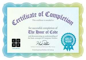 certification completion