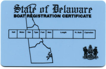 Boat Registration and Yacht License in Delaware