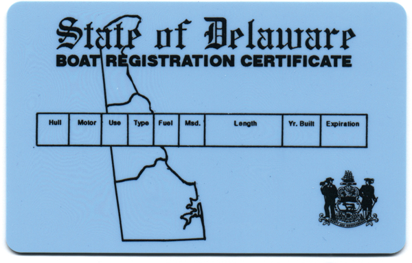 registered boat certificate