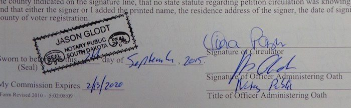 signed notarial papers