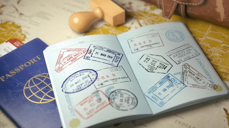 passport with immigration visas