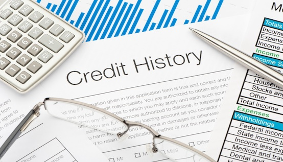 credit history on paper and documents