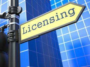 license sign