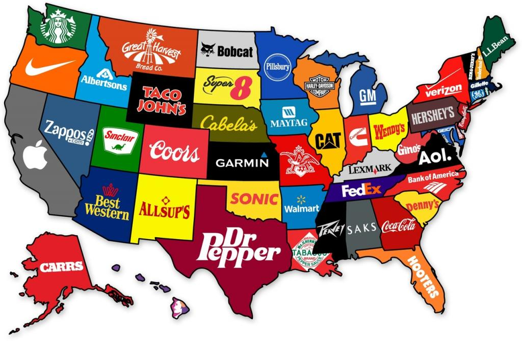 main companies in the states of America
