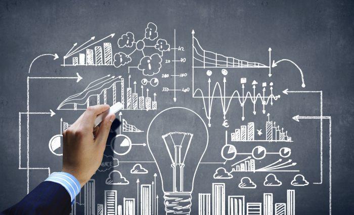 business plan on a chalkboard