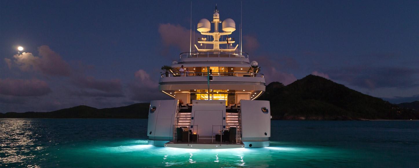 yacht on a lake