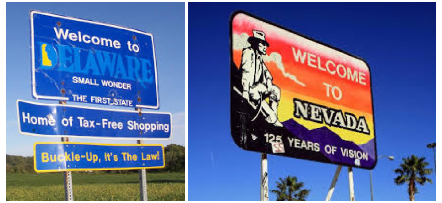 nevada state welcome sign