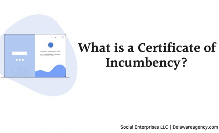 Delaware Certificate of Incumbency